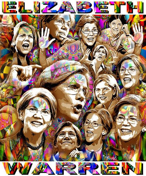 Elizabeth Warren Tribute T-Shirt or Poster Print by Ed Seeman