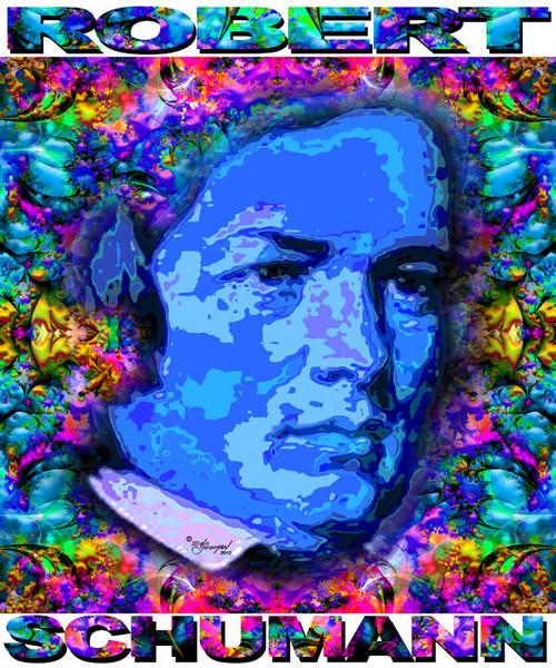 Robert Schumann Tribute T-Shirt or Poster Print by Ed Seeman