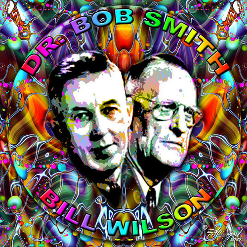 Dr. Bob & Bill Wilson T-Shirt or Poster Print by Ed Seeman