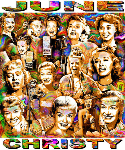 June Christy Tribute T-Shirt or Poster Print by Ed Seeman