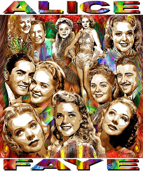Alice Faye Tribute T-Shirt or Poster Print by Ed Seeman