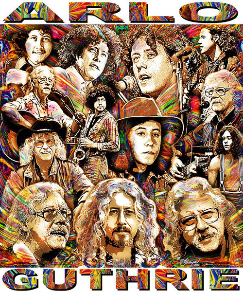 Arlo Guthrie Tribute T-Shirt or Poster Print by Ed Seeman