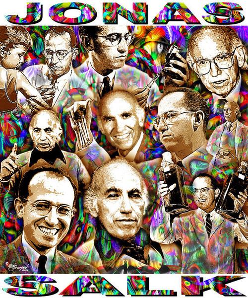 Jonas Salk Tribute T-Shirt or Poster Print by Ed Seeman