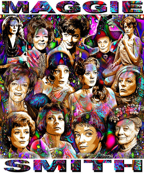 Maggie Smith Tribute T-Shirt or Poster Print by Ed Seeman