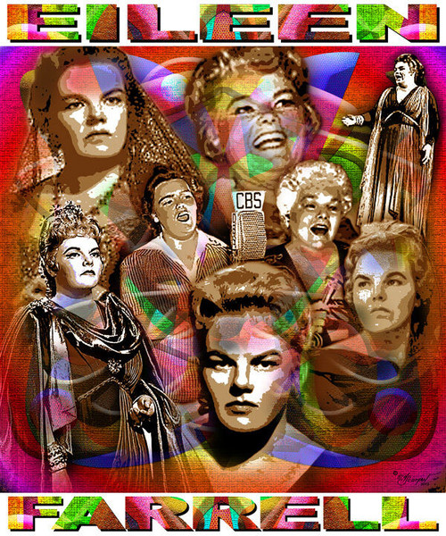 Eileen Farrell Tribute T-Shirt or Poster Print by Ed Seeman
