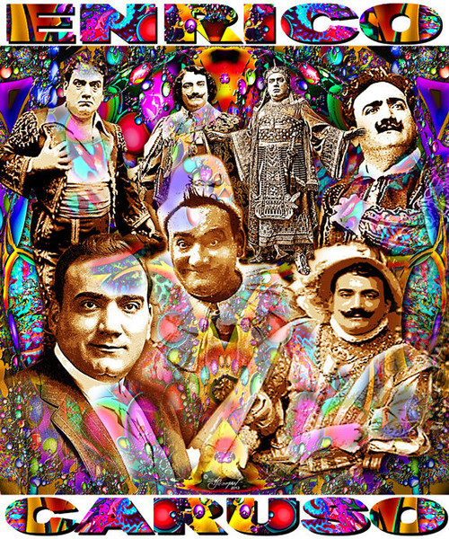 Enrico Caruso Tribute T-Shirt or Poster Print by Ed Seeman