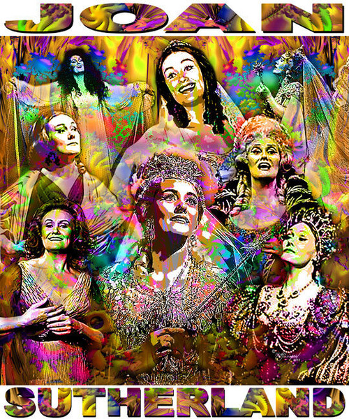 Joan Sutherland Tribute T-Shirt or Poster Print by Ed Seeman
