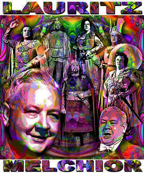 Lauritz Melchior Tribute T-Shirt or Poster Print by Ed Seeman