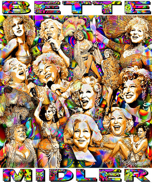 Bette Midler Tribute T-Shirt or Poster Print by Ed Seeman