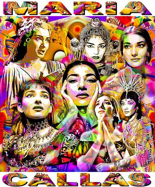 Maria Callas Tribute T-Shirt or Poster Print by Ed Seeman