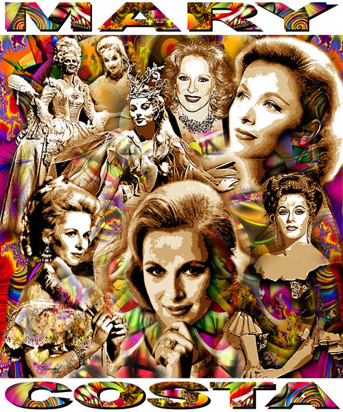 Mary Costa Tribute T-Shirt or Poster Print by Ed Seeman