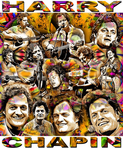 Harry Chapin Tribute T-Shirt or Poster Print by Ed Seeman