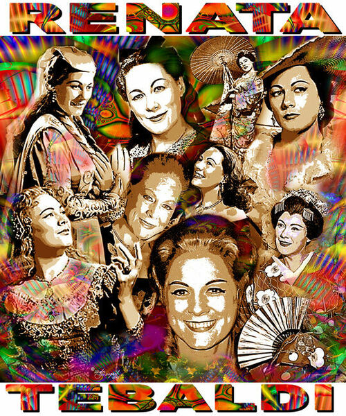 Renata Tebaldi Tribute T-Shirt or Poster Print by Ed Seeman
