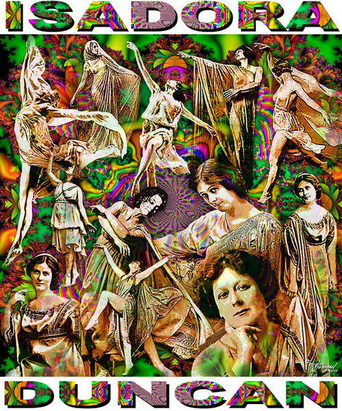 Isadora Duncan Tribute T-Shirt or Poster Print by Ed Seeman