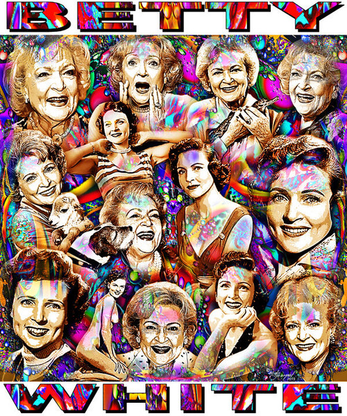 Betty White Tribute T-Shirt or Poster Print by Ed Seeman