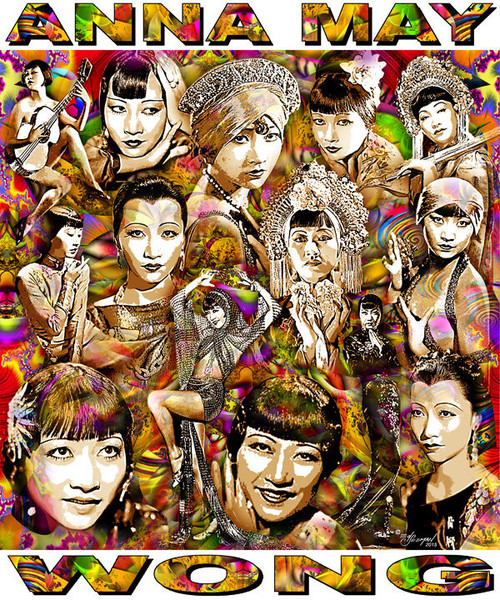 Anna May Wong Tribute T-Shirt or Poster Print by Ed Seeman