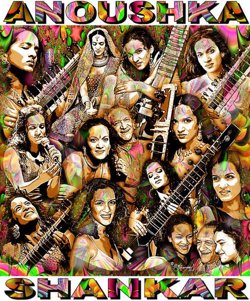 Anoushka Shankar Tribute T-Shirt or Poster Print by Ed Seeman
