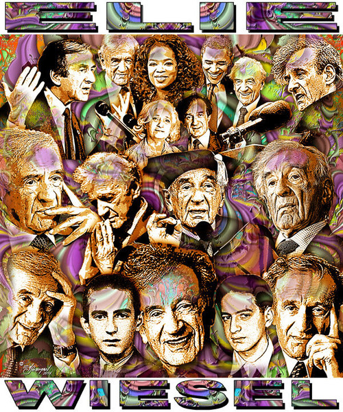 Elie Wiesel Tribute T-Shirt or Poster Print by Ed Seeman