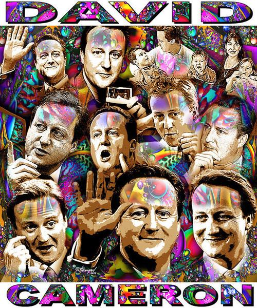 David Cameron Tribute T-Shirt or Poster Print by Ed Seeman