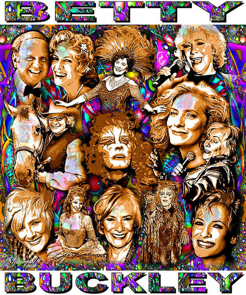 Betty Buckley Tribute T-Shirt or Poster Print by Ed Seeman