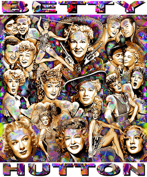 Betty Hutton Tribute T-Shirt or Poster Print by Ed Seeman