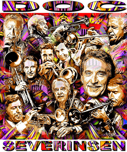 Doc Severinsen Tribute T-Shirt or Poster Print by Ed Seeman