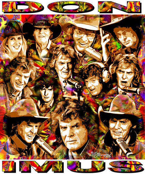 Don Imus In Memoriam Tribute T-Shirt or Poster Print by Ed Seeman