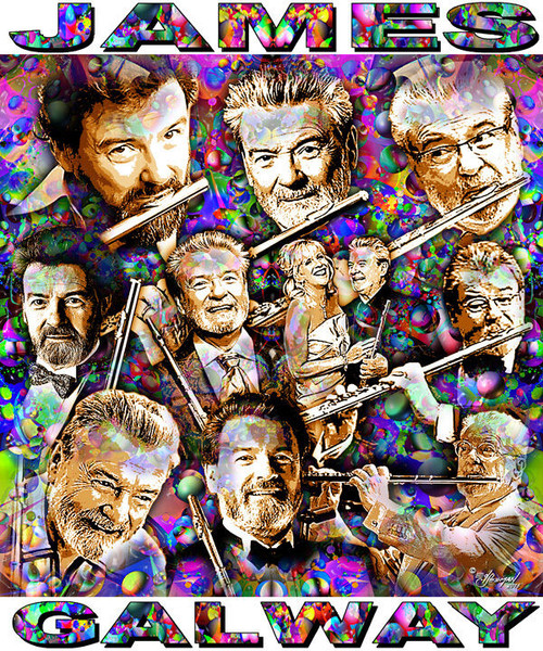James Galway Tribute T-Shirt or Poster Print by Ed Seeman