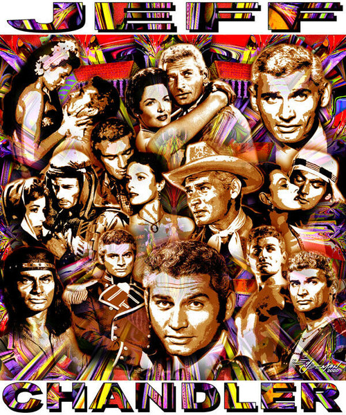 Jeff Chandler Tribute T-Shirt or Poster Print by Ed Seeman