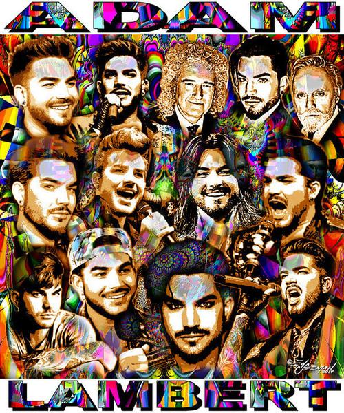 Adam Lambert Tribute T-Shirt or Poster Print by Ed Seeman