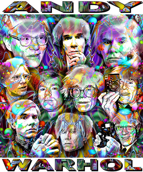 Andy Warhol Tribute T-Shirt or Poster Print by Ed Seeman