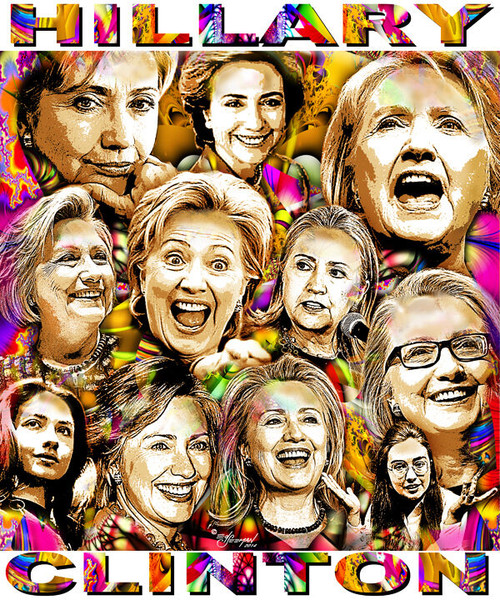 Hillary Clinton Tribute T-Shirt or Poster Print by Ed Seeman