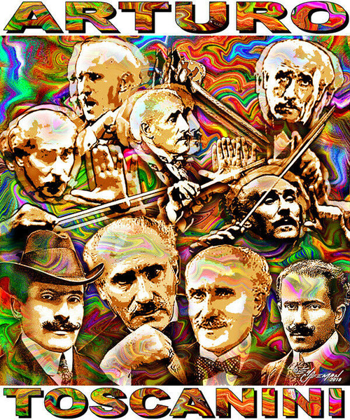 Arturo Toscanini Tribute T-Shirt or Poster Print by Ed Seeman