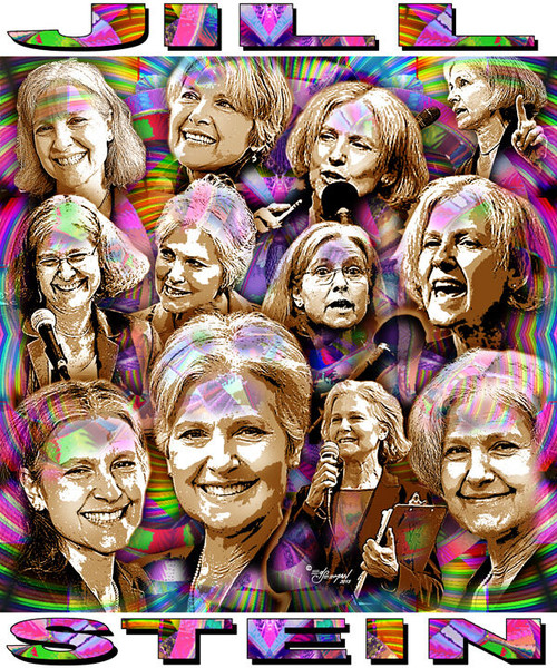 Jill Stein T-Shirt or Poster Print by Ed Seeman