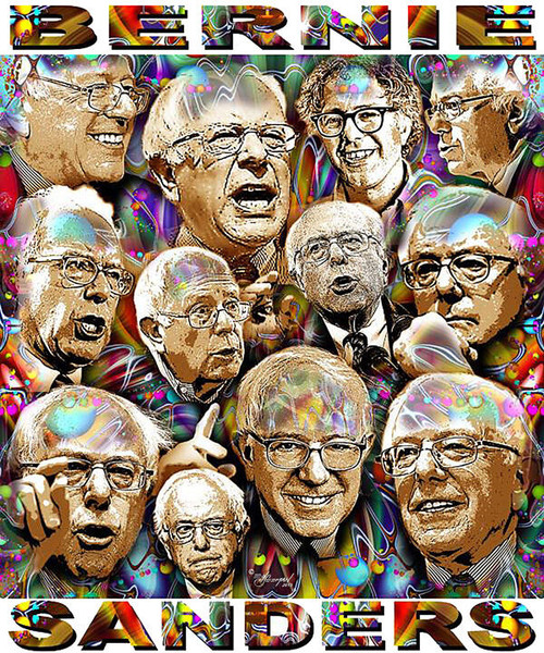 Bernie Sanders T-Shirt or Poster Print by Ed Seeman