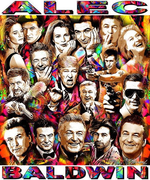 Alec Baldwin Tribute T-Shirt or Poster Print by Ed Seeman