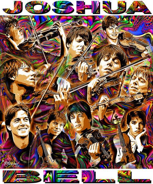 Joshua Bell Tribute T-Shirt or Poster Print by Ed Seeman