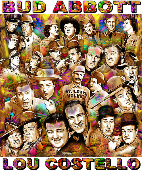 Abbott & Costello Tribute- T-Shirt or Poster Print by Ed Seeman