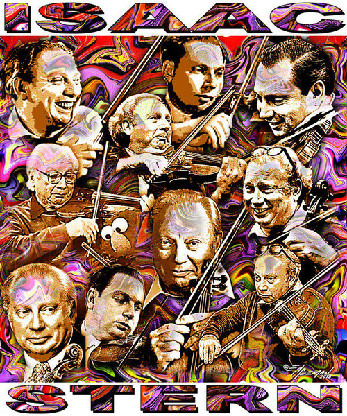 Isaac Stern Tribute T-Shirt or Poster Print by Ed Seeman