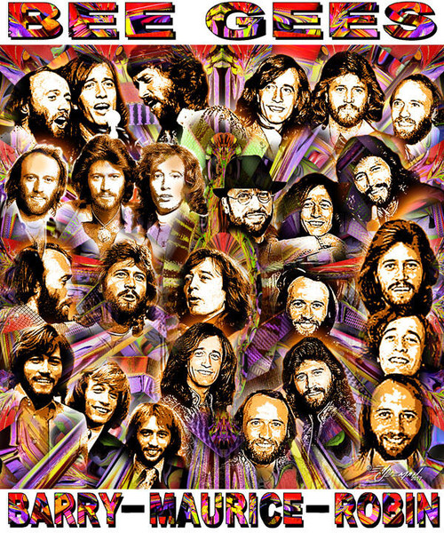 Bee Gees Tribute T-Shirt or Poster Print by Ed Seeman