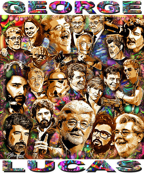 George Lucas Tribute T-Shirt or Poster Print by Ed Seeman