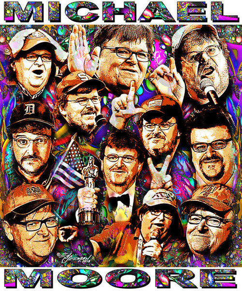 Michael Moore Tribute T-Shirt or Poster Print by Ed Seeman