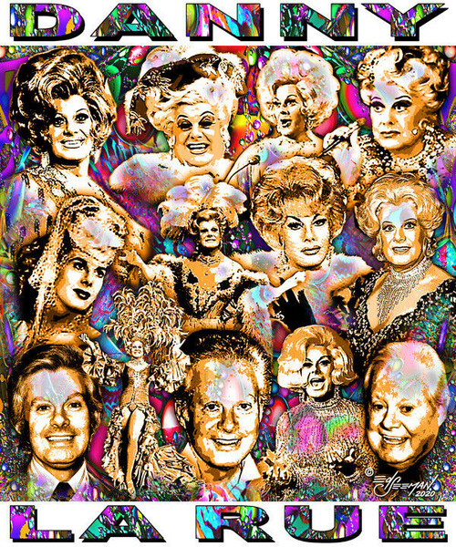 Danny La Rue Tribute T-Shirt or Poster Print by Ed Seeman