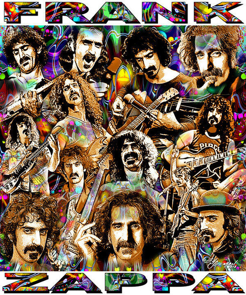 Frank Zappa #2 Tribute T-Shirt or Poster Print by Ed Seeman