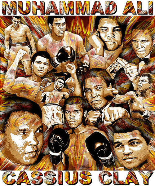 Muhammad Ali Cassius Clay Tribute T-Shirt or Poster Print by Ed Seeman