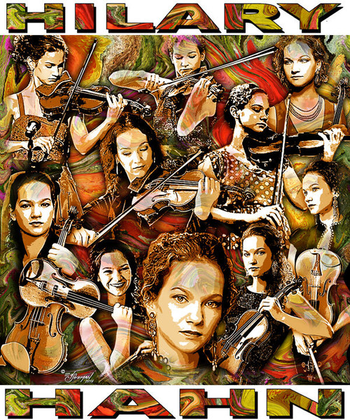 Hilary Hahn Tribute T-Shirt or Poster Print by Ed Seeman