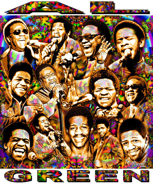 Al Green Tribute T-Shirt or Poster Print by Ed Seeman