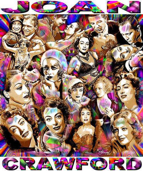 Joan Crawford Tribute T-Shirt or Poster Print by Ed Seeman