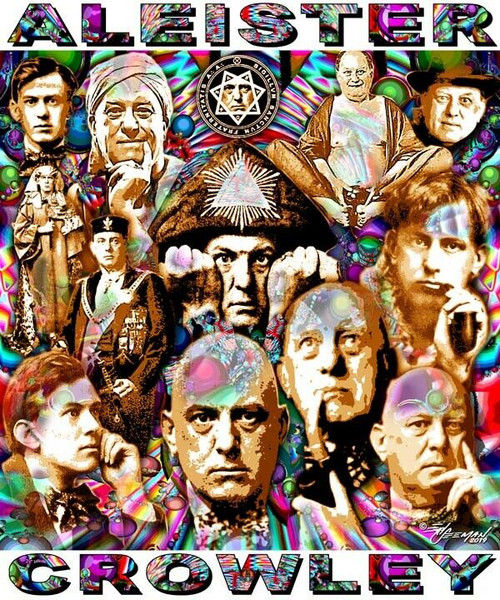 Aleister Crowley Tribute T-Shirt or Poster Print by Ed Seeman