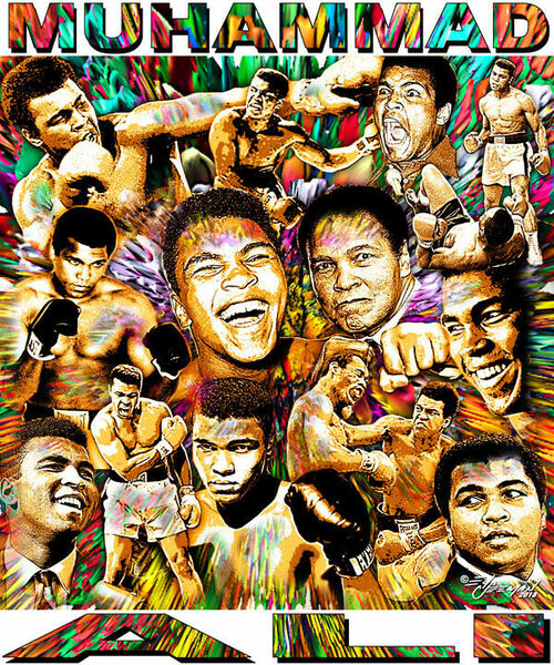 Muhammad Ali Tribute T-Shirt or Poster Print by Ed Seeman